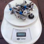 Foils Schrauben Gewicht